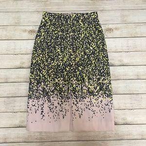 J.Crew Floral midi Skirt size2